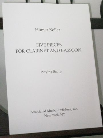 Keller H - Five Pieces for Clarinet and Bassoon